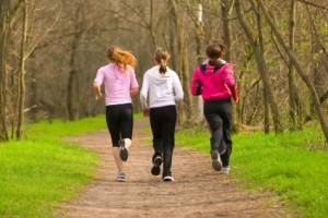 Run through forest